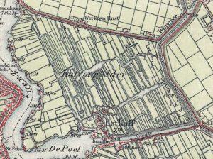 kaart Kalverpolder 1900